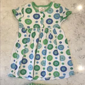 Hanna Anderson Set- Green and blue floral- size 4T